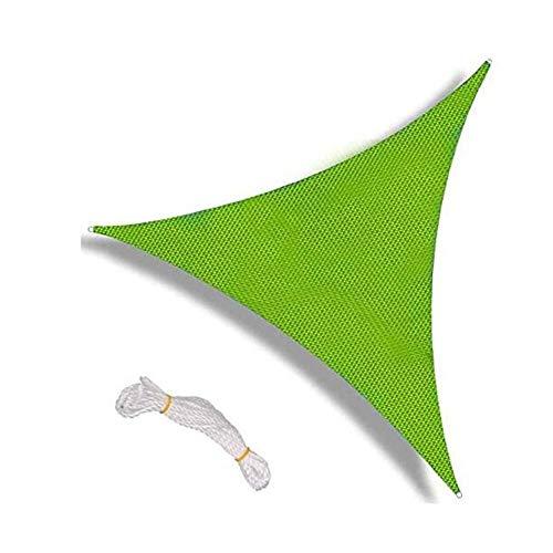 Toldos CJC Cortina De La Vela, Tela Impermeable UV Bloque Superior UV For Cubierta, Piscina, Jardín, Porche, Patio Trasero (Color : Green, Size : 3X3X3M)