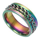 BIGBOBA männer Ring Kühle Kette Ring Rotierenden Kreative Paar Zubehör 6#