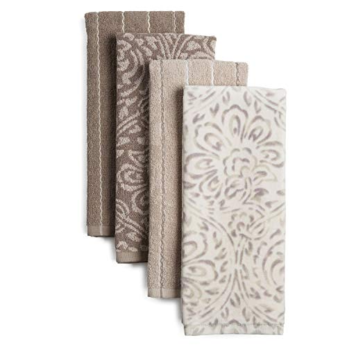 Jennifer Adams Organic Flora Kitchen Towel Set, 17'x28', 4 Count