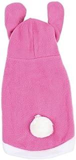 eDealMax Pequeño Conejo Diseño de pecho perro único del perrito ropa de Abrigo, rosa/