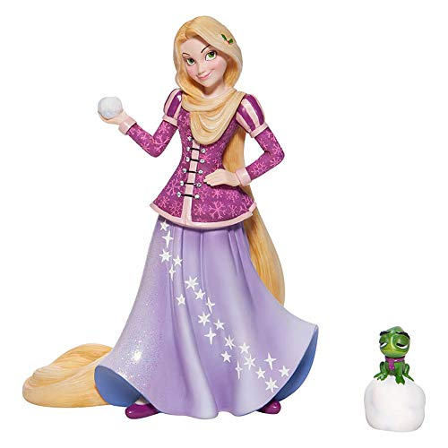Enesco Disney Showcase Tangled Rapunzel Holiday Princess and Pascal Figurine, 8.31 Inch, Multicolor