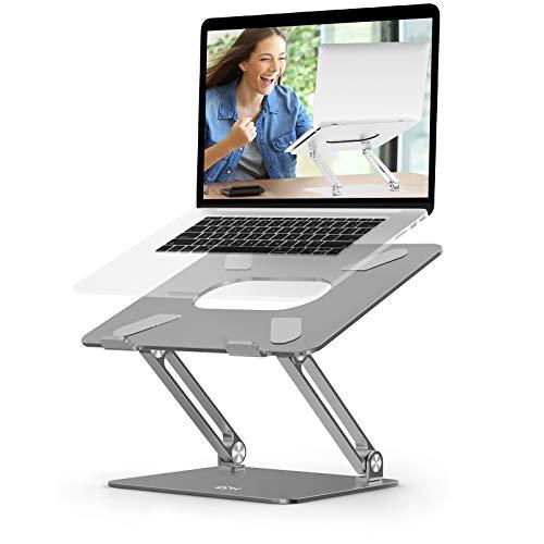 Soporte ergonómico para ordenador portátil EPN ajustable con ventilación de calor, aleación de aluminio compatible para MacBook Pro/Air, Dell XPS, HP, Samsung Laptops hasta 17 pulgadas de espacio gris