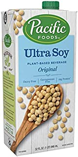 Pacific Foods Ultra Soy Non-Dairy Beverage, Original, 32-Ounce, (Pack of 12)