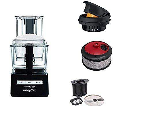 MAGIMIX Robot oferta única 3200 XL negro con accesorios kit de cubos y varillas, exprimidor y licuadora