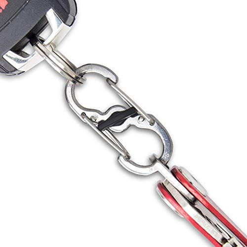 KeySmart Compact Key Holder Add-on Accessory - Stainless Steel Quick Disconnect Clip