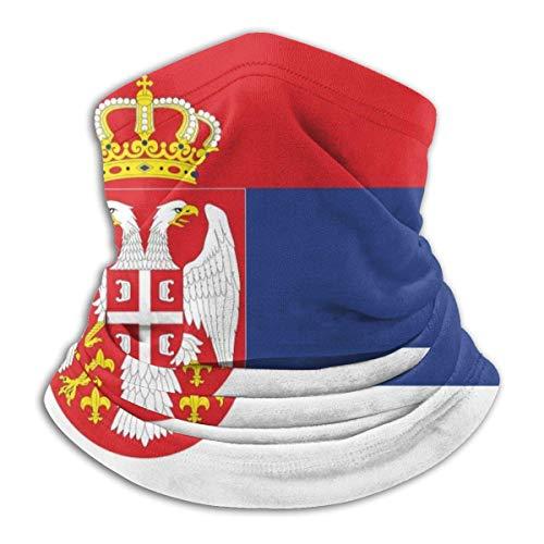 PQU Awesome Magic Headbands,Serbische Flagge Sport Face Guard, Sand Proof Erwachsenen Stirnband Für Sport Radfahren,26x30cm