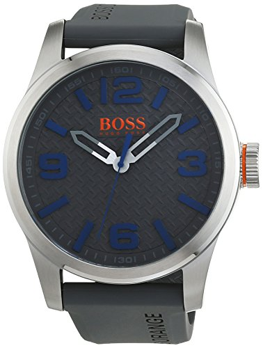 Hugo Boss 1513349 Orange - Reloj analógico de pulsera para hombre, correa de silicona
