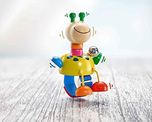 Selecta Hochet Girafe Collini avec Fermeture à Scratch hochet bébé, Multicolore