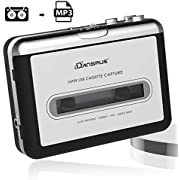 2019 Upgrade Cassette Player,Valoinus Portable Walkman Cassette Tape Player Compatible with Laptops and Personal Computers Convert Walkman Tape Cassette to MP3 Format