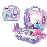 Newin Star Niños Juego de imaginación Set Juguetes Vanidad Estuche de Maquillaje con Espejo de Aumento Conjunto de Juguete temprano del Desarrollo Educativo para niños
