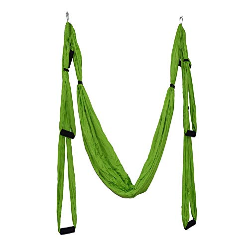 Pawaca Aerial Yoga Swing,Ultra Strong Yoga Hammock With Parachute Fabric And Handles,Aerial Trapeze Kit,Large Inversion Air Fly Sling Set,Hammock/Trapeze for Indoor and Outdoor with Health