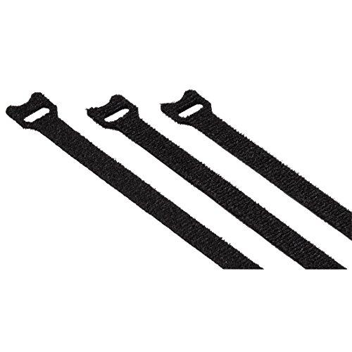 Hama klittenband-kabelbinders, gekleurd 12,5 cm (zwart) zwart