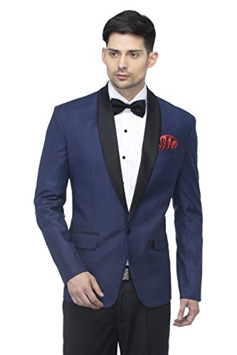 FAVOROSKI Designer Men's Slim Italian Fit Shawl Collar Tuxedo Suit Blazer