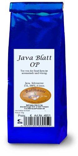 Java Blatt, Schwarzer Tee aus Indonesien