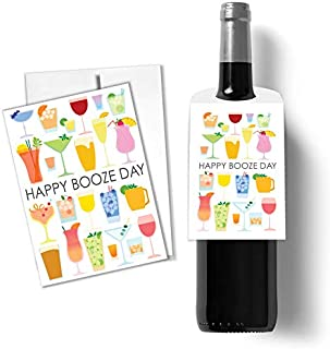 Tiny Expressions Happy Birthday Card and Bottle Gift Tag (1 Card and Tag)