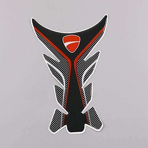 3D-rode motorfiets-gas-brandstof-container-opleg-sticker-sticker-aftrekplaat-bescherming voor Ducati Monster 848 899 1199 Diavel Monster 1200 400 Pegatinas