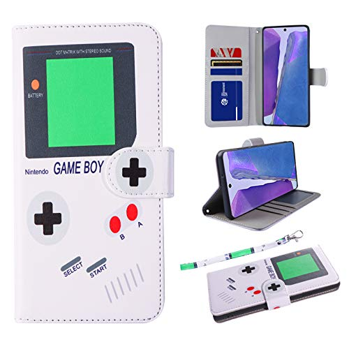 UrSpeedtekLive Note 20 Wallet Case, Premium PU Leather Flip Case Cover with Card Slots & Kickstand for Samsung Galaxy Note 20, Gameboy