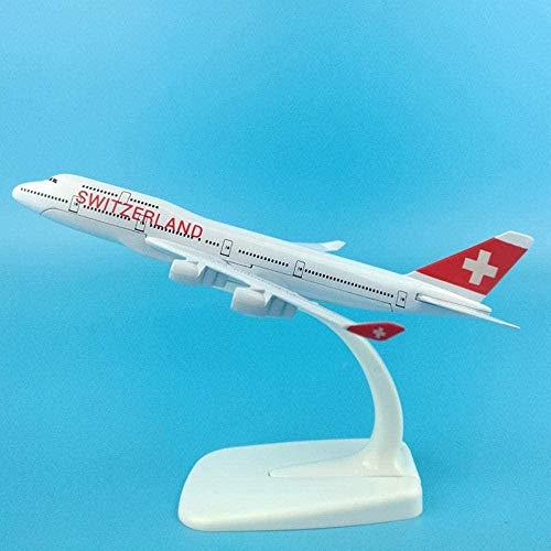 16cm Swiss Air Boeing 747-400 Simulation Statisches Passagierflugzeug Schweiz B747-400 Dekoration 1: 400 Flugzeugmodell