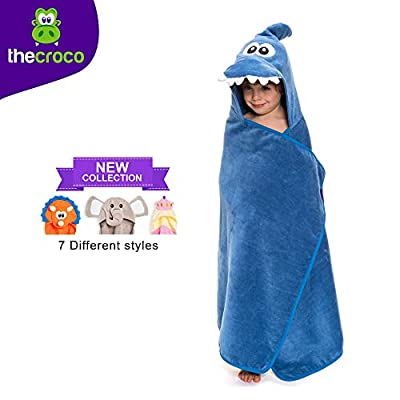 TheCroco Premium Hooded Towel: Ultra Soft, 100% Cotton, Super Absorbent & Thick, and Exceptionally Large