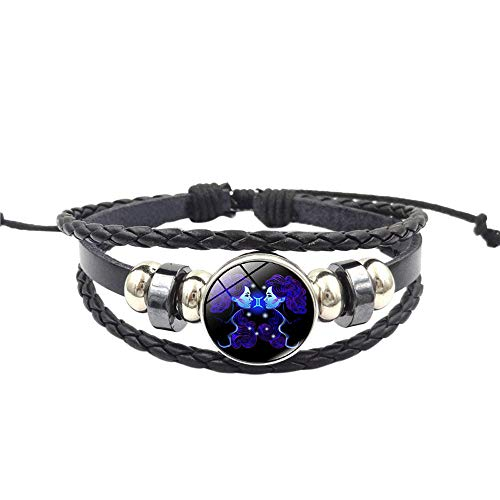 Janly Clearance Sale Pulseras para mujer, diseño de constelación con signo del zodiaco multicapa hecha a mano pulsera L, joyería y relojes para Navidad, día de San Valentín