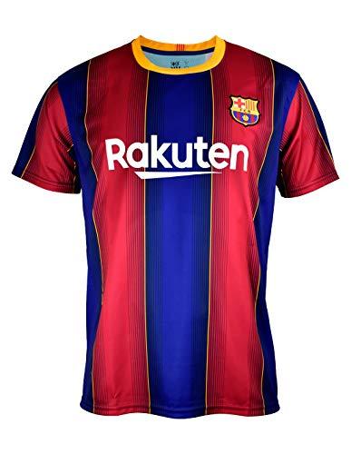 Camiseta Replica FC. Barcelona 1ª EQ Temporada 2020-21 - Producto con Licencia - Dorsal Liso - 100% Poliester - Talla M