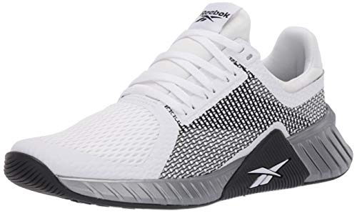 Reebok mens Flashfilm Cross Trainer, White/Black/Silver Metallic, 10.5 US