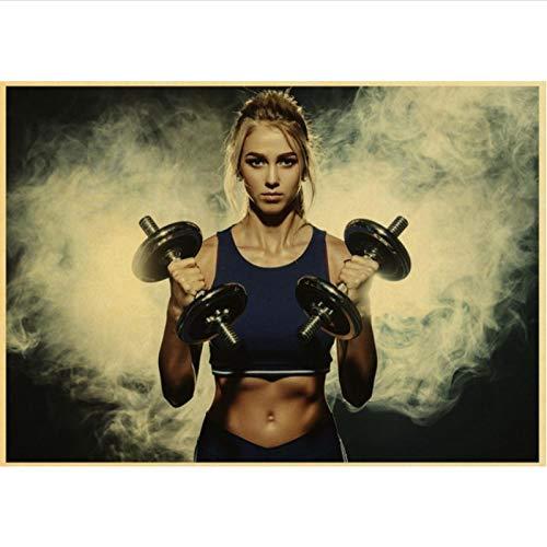 yitiantulong Impresión En Lienzo Arnold Schwarzenegger Poster Bodybuilding Fitness Gym Workout Poster Pintura Arte De La Pared para La Decoración De La Sala De Estar R-686 (50X90Cm) Sin Marco