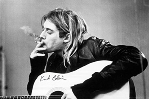 Poster Kurt Cobain - Smoking - preiswertes Plakat, XXL Wandposter im Format 91.5 x 61 cm