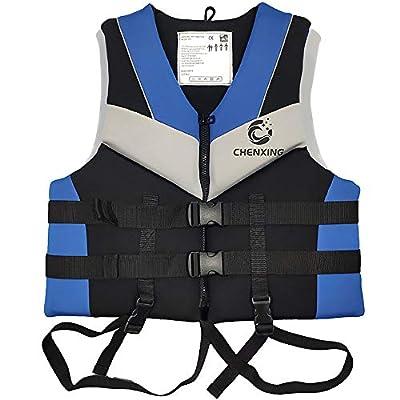 ZIYE Swimming Surfing Water Sports Rafting Neoprene Life Jacket Vest for Adult Children