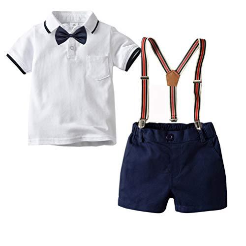 CARETOO Baby Jungen Bekleidungssets Kleidung Set Shirt + Hose Baby Fliege Anzug für Baby Geburtstagsparty Kleid