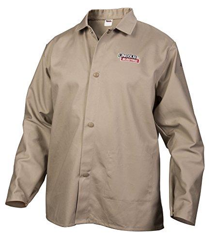 Lincoln Electric Khaki X-Large Flame Retardant Cloth Welding Shirt