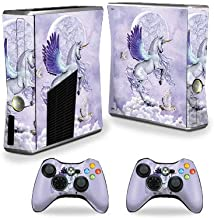 MightySkins Skin Compatible with Xbox 360 S Console - Unicorn Utopia   Protective, Durable, and Unique Vinyl Decal wrap Cover   Easy to Apply, Remove, and Change Styles   Made in The USA