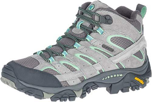 Merrell Women's Moab 2 Mid Waterproof Drizzle/Mint Hiking Boot 6 M US
