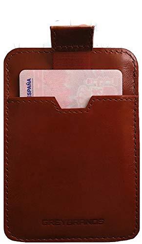 Cartera Ultra Delgada para Hombres con Cuero Genuino Diseño Moderno | Billetera Minimalista | Bloquea señal RFID | Tarjetero pequeño | Caja de Lujo para Regalos Oferta