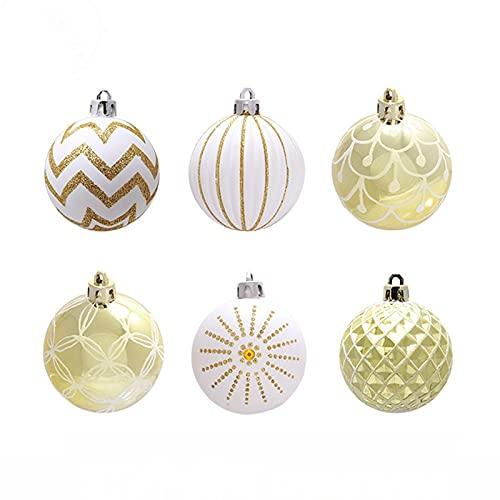 Soapow - 24 palline di Natale dipinte per albero di Natale, decorazioni per la casa, feste di nozze, 6 cm