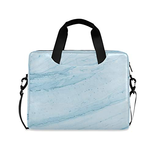 Light Blue Marble Texture 16 inch Laptop Shoulder Bag Travel Laptop Briefcase Carrying Messenger Bags
