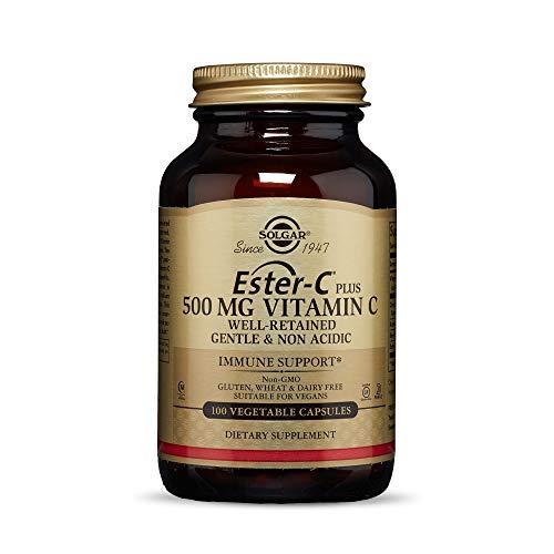 Solgar Ester-C Plus Vitamin C 500mg Hagebuttenfrüchten Bioflavonoide Acerola-Beeren - 100 Tabletten