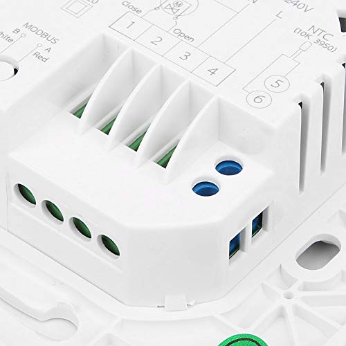 Weikeya Termostato de calefacción de Agua, plástico Máximo 5A Control de termostato de termostato de Control de Voz