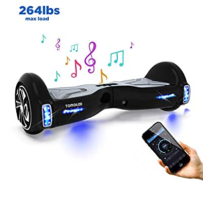 """TOMOLOO Hover Boards for Kids, Hoverboard Adult with Bluetooth Speaker and LED Light, 6.5"""" Two Wheels Self Balancing Hoverboard Electric Scooter"""