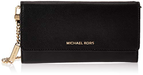 MICHAEL KORS Zwart lederen portemonnee met ketting riem