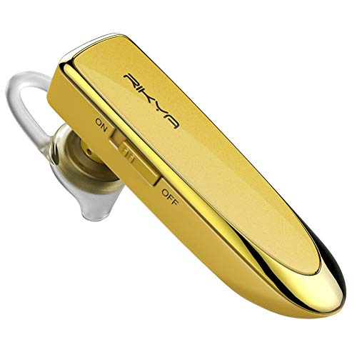 AchidistviQ Auricular Bluetooth V4.1 Auriculares Intrauditivos Inalámbricos Auriculares para Automóvil, Auriculares Manos Libres con Reducción De Ruido, Espera Larga para Oficina/Conducción Dorado