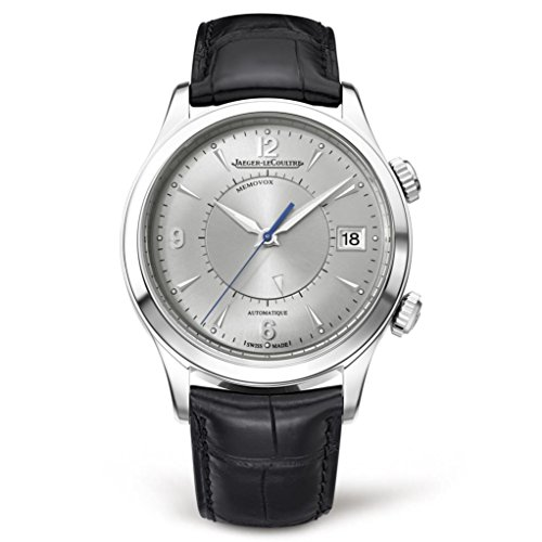 Jaeger Lecoultre uomo Master Memovox 40 mm Alligator Leather Band Steel...