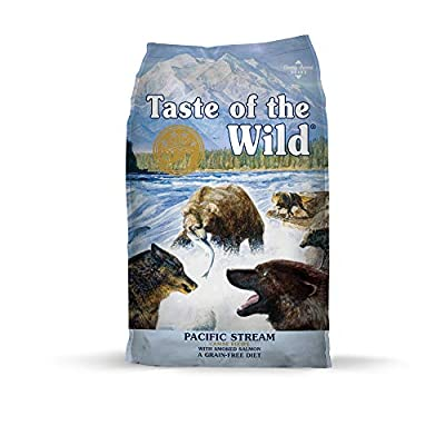 Taste of the Wild Pacific Stream Grain-Free Dry Dog Food with Smoked Salmon 14lb