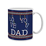 Indigifts Fathers Day Gifts Love You Dad Decorative Coffee Mug 330 ml Blue