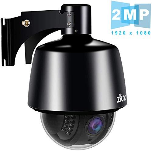 ZILNK IP Kamera WLAN Outdoor HD 1080P Schwenk/Neigen/Zoom-Überwachungskamera Aussen, 5X Optischer Zoom, Autofokus, Nachtsicht, IP65 Wasserdicht, Bewegungswarnung, Unterstützung von 64GB SD Karten