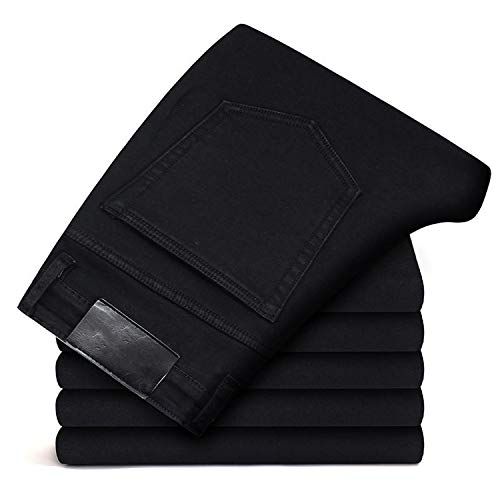 Sweetie L Jeans Hose Herren Kleidung Neue Elastizität Skinny Jeans Business Casual Männer Denim Slim Pants Classic Gr. 39, Schwarz