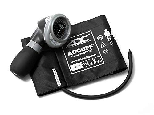ADC Diagnostix 703 Esfigmomanómetro aneroide estilo palmera con puño de presión arterial de nylon Adcuff, Adult| Herramientas médicas para médicos y enfermeras