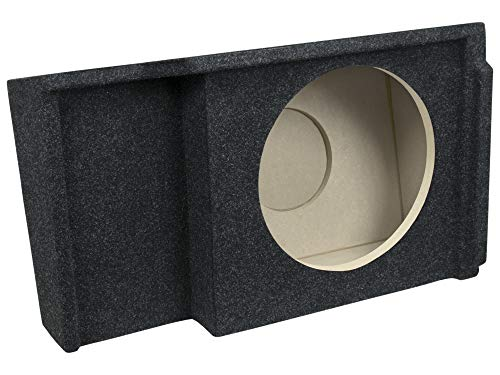 Bbox A151-12CP Single 12' Sealed Carpeted Subwoofer Enclosure - Fits 1999-2007 Chevrolet/GMC Silverado/Sierra Extended Cab