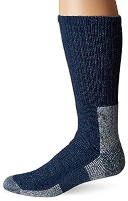 thorlos mens Wlth Max Cushion Crew Hiking Socks, Navy, Large US