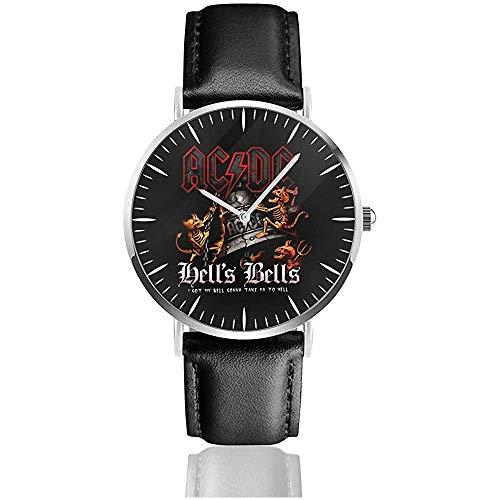 Ac -Dc.Jpg Classic Uhren Schwarzes Lederarmband Watche
